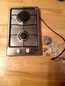 Summit 12 Gas Cooktop Stainless Steel W 2 Burners Gc22ss Tiny House Glamper