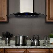 30 In Convertible Kitchen Wall Mount Range Hood Stainless Steel Touch Control