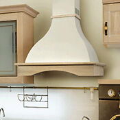 Nt Air Range Hood Wall Mounted Wood 36 Chr 114 Country Style Made In Italy