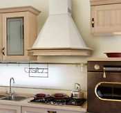 36 Range Hood Wall Mounted Wood Country Style Chr 117 Nt Air Italy