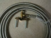 Ice Maker Install Kit With 10 Stainless Steel Hose W Saddle Valve 1 4 Comp