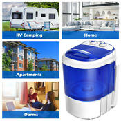 Mini Washing Machine Drain Spin Dry Laundry Electric Rv Apartment Carry Sh Fast