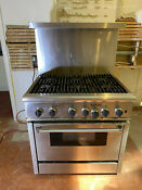 Thermador 36 Gas Range Electric Oven