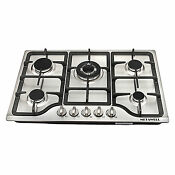 30 Stainless Steel 5 Burners Gas Cooktop Built In Lpg Ng Gas Hob Stove Cooker