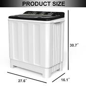 24lbs Compact Washing Machine Twin Tub Portable Washer Spinner Laundry Dryer New