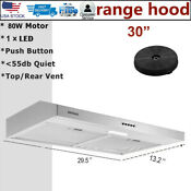 30 Under Cabinet Range Hood Stainless Steel 230 Cfm Vented Kitchen Cooking Fan