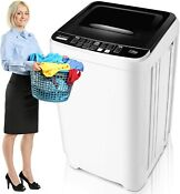 Portable Washer 15 6 Lbs Capacity Full Automatic Compact Laundry Washing Machine