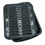 Range Kleen 2 Piece Heavy Duty Broiler Pan With Porcelain Grill 16 X 12 5
