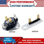 3387134 3392519 Dryer Cycling Thermostat Thermal Fuse For Whirlpool Kenmore