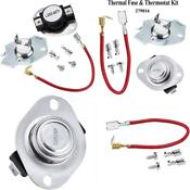 Ami Parts 279816 Dryer Thermal Fuse Thermostat Replacement Part Kit Replaces A
