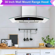 30 Inch Wall Mount Stainless Steel Range Hood Stove Exhaust Air Cook Fan Kitchen