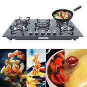23 30 Built In Stove Tempered Glass Gas Stove Top 4 5 Burner Lpg Ng Cooktop