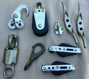Vintage Sailboat Deck Gear Block Snap Cleat 9 Piece Lot Seaway Ronstan Ludell