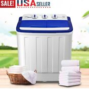 Portable Washing Machine With Twin Tub 16 6 Lbs Washer Spin Dryer Apartment Dorm