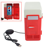Fda Mini Usb Refrigerator Cooler Beverage Drink Cans Refrigerator And Heater Red