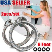 2pcs Washer Stainless Steel Hoses With 90 Degree Elbows 6 Ft Water Supply Lines