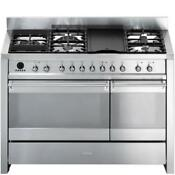Smeg A3xu6 Stainless Steel 47 62 In Dual Fuel Kitchen Ranges