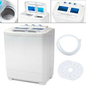 Portable Washing Machine Compact Wash Spin Dry Cycle Laundry With Built In Pump