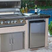 Outdoor Refrigerator Mini Beverage Small Fridge Stainless Steel 4 5 Cubic Feet