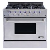 Nxr Elite Stainless Steel 36 Gas Range With Convection Oven New
