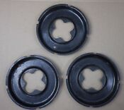 Chambers Stove Oven Model 61c Set Of 3 Stove Top Drip Pans Burner Bowls