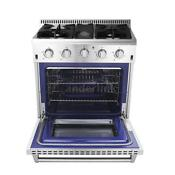 Thor Kitchen 30 4 Burners Gas Range Stainless Steel Cooker 4 2 Cu Ft E1g6