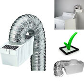 Dryer Lint Trap Vent Kit Washing Machine Flexible Metallic Duct Safe Indoor Easy