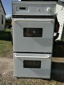 Oven Maytag Electric Built In Double Wall White Touch Pad Digital Display Used