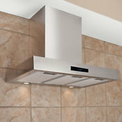 24 Treviso Series Stainless Steel Wall Mount Range Hood With 470 Cfm Fan