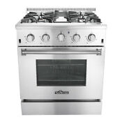 30 Professional Stainless Steel Gas Range Oven 4 Sealed Burners Convection Us