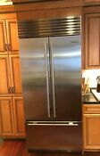 2015 Sub Zero Fridge Fully Stainless 36 French Doors Over Drawer Freezer