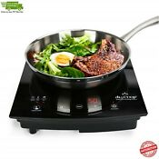 Powerful 1800w Elect Portable Induction Touch Sensor Cooktop Countertop Burner
