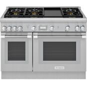 New Thermador Prg486wdh 48 Pro Harmony Gas Range Stainless Steel New