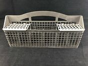 Maytag Dishwasher Gray Silverware Utensil Cutlery Basket Caddy 6 Sections W Lids