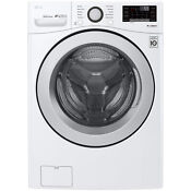 Lg Wm3500cw 4 5 Cu Ft Smart Wi Fi Enabled Front Load Washer White