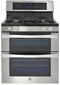 Kenmore Elite 76033 6 1 Cu Ft Double Oven Gas Range W Convection Cooking