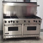 Viking 60 Range With Griddle And Grill Lp Vgrc6056gqdss