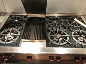 48 Wolf Sb 48 Gb Six Burner Gas Stove Cook Top With Griddle Grill