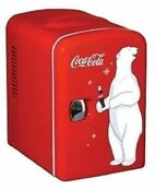 Retro Red Polar Bear Coca Cola Coke Mini Fridge Compact Personal Refrigerator