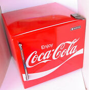 Vintage Enjoy Coca Cola Sanyo Mini Frig Refrigerator Model Kgc 694 Works