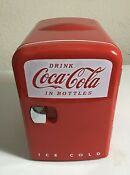 Coca Cola Mini 6 Can Fridge Tested Cold And Hot Air With Power Cord