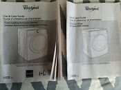 Lg Washer Dryer Use Care Guide Service Manual W10891955a W10804688b
