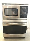 Ge Profile Series 30 Stainless Steel Built In Double Microwave Convection Oven
