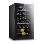 Wine Cooler Chiller Compressor Refrigerator Led Display Touch Control 24 Bottle