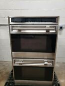 Wolf 30 Double Wall Oven Stainless Steel Do30f S Convection