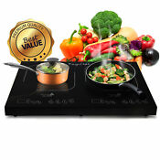 Megachef Portable Dual Induction Cooktop