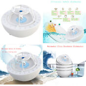 Portable Ultrasonic Sink Dishwasher Automatic Wave Dishwasher For Bowls Cleaning