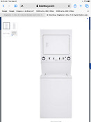 Frigidaire White Laundry Center 3 3 Cu Ft Washer 5 5 Cu Ft Electric Dryer