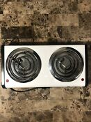 White Westinghouse Electric Stove 2 Burner Plug In Camping Stove