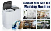 Super Deal Portable Compact Mini Twin Tub Washing Machine W Wash And Spin Cycle